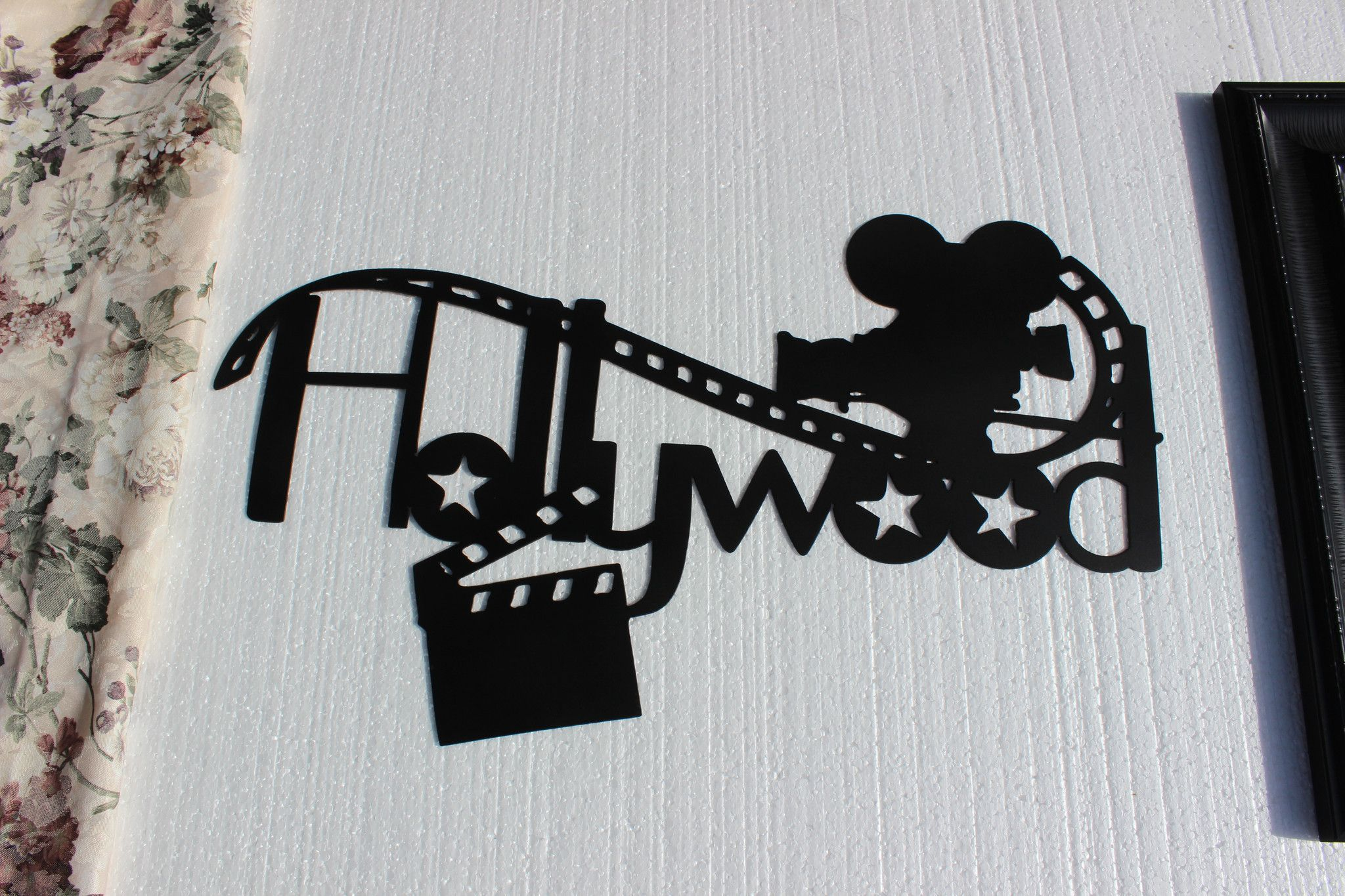 Home Theater Decor Hollywood, Camera and Clapboard Metal Wall Art ...
