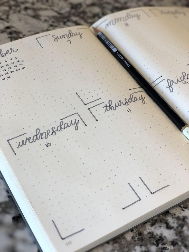 Custom Bullet Journal Planner Completed bullet journal hand   Etsy #bulletjournaling