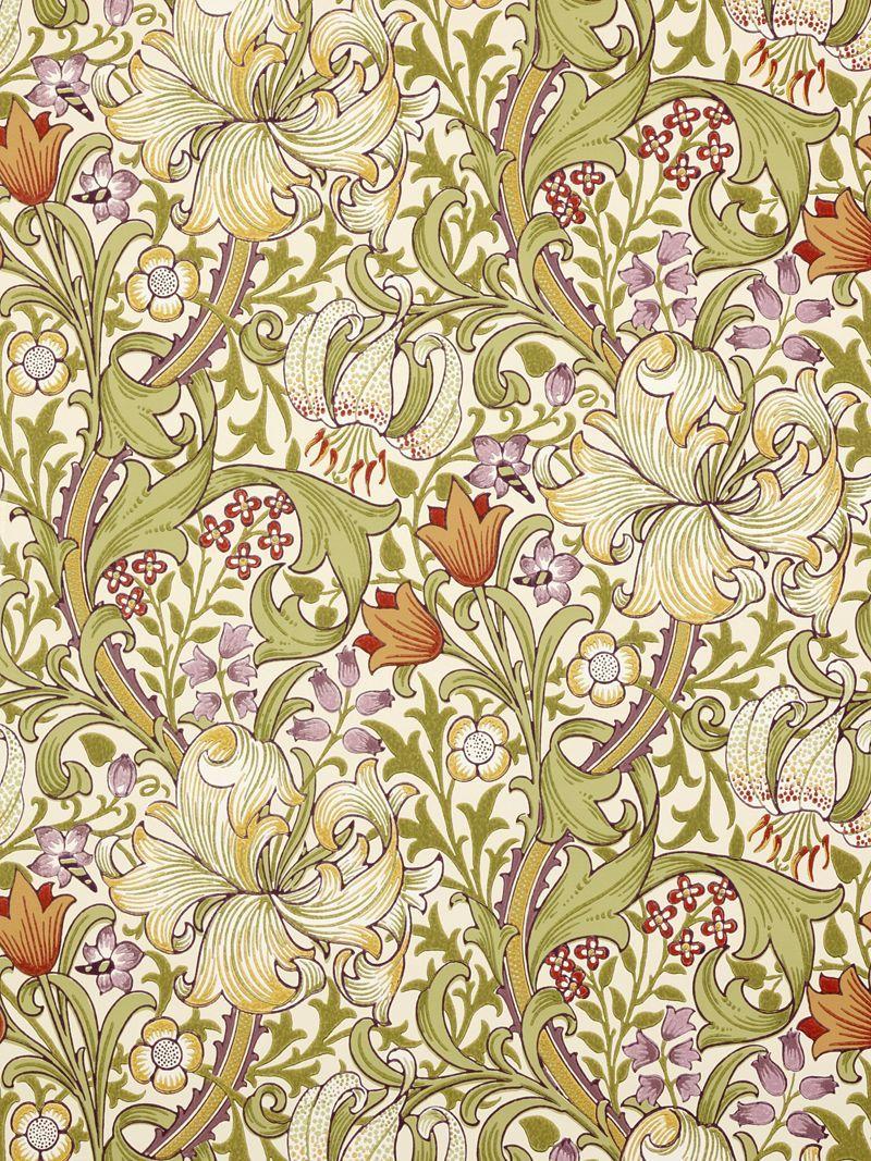 golden lily 210399 morris co grand luxxxe poster mural papier peint et parement mural. Black Bedroom Furniture Sets. Home Design Ideas