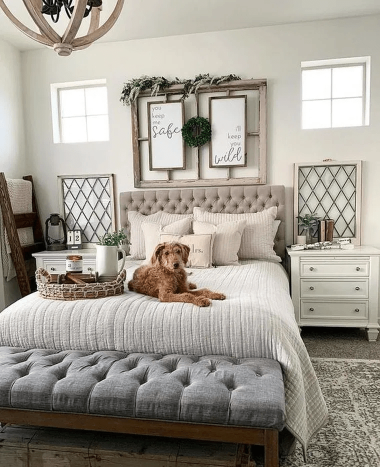 Beautiful Modern Farmhouse Bedroom Design Ideas And Decor 10 In 2020 Master Bedrooms Decor Farmhouse Style Master Bedroom Rustic Master Bedroom