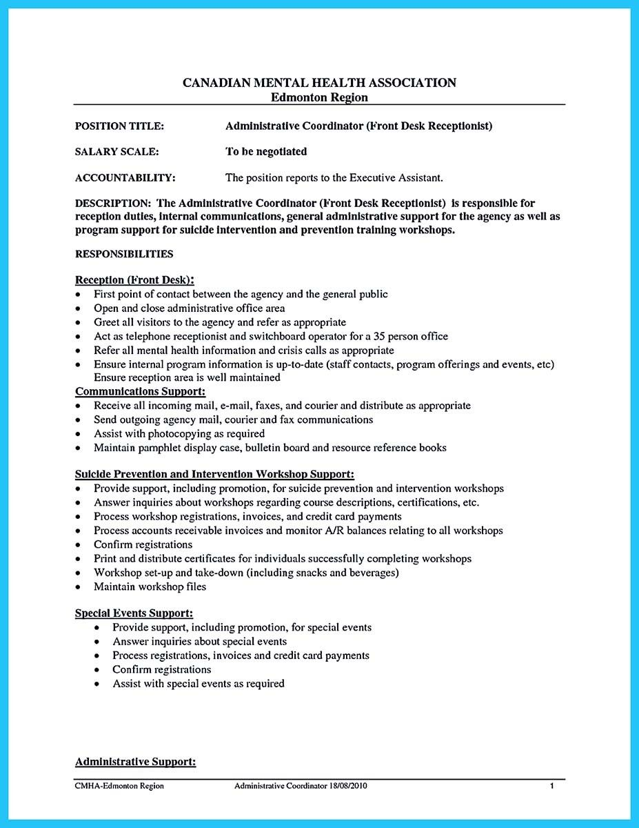 Administrative Objective For Resume Brilliant Cool Impressive Professional Administrative Coordinator Resume .