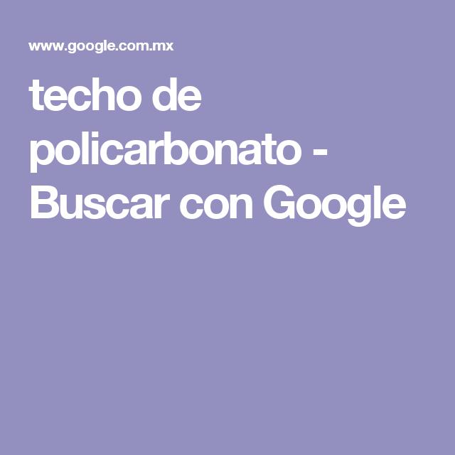 techo de policarbonato - Buscar con Google