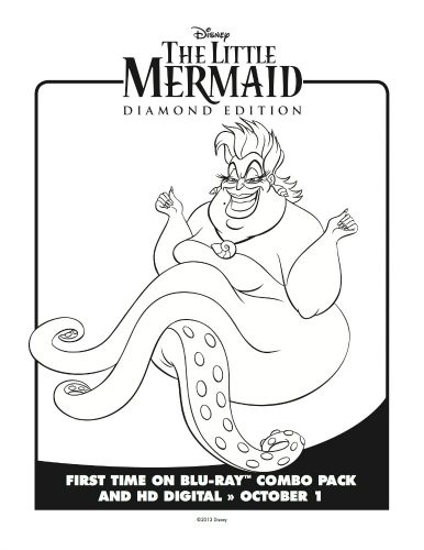 Little Mermaid Ursula Coloring Page Mermaid Coloring Pages