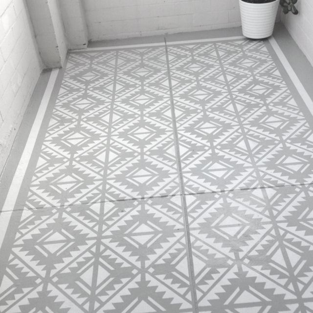 Dyi Floor Stencil Could Be A Good Idea To Cover Up An