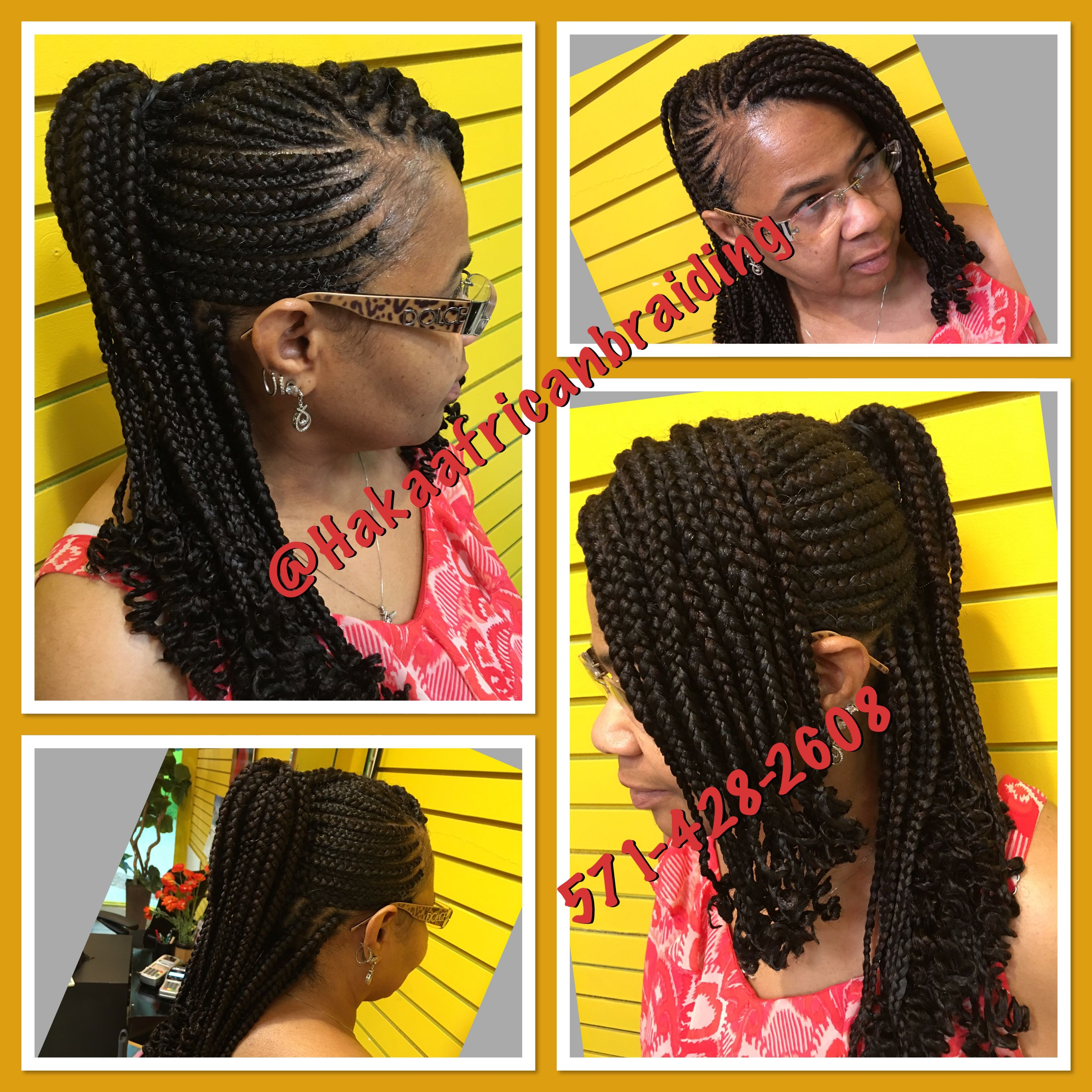 Good Morning Cute Cornrows Design With Individuals Braids Done By