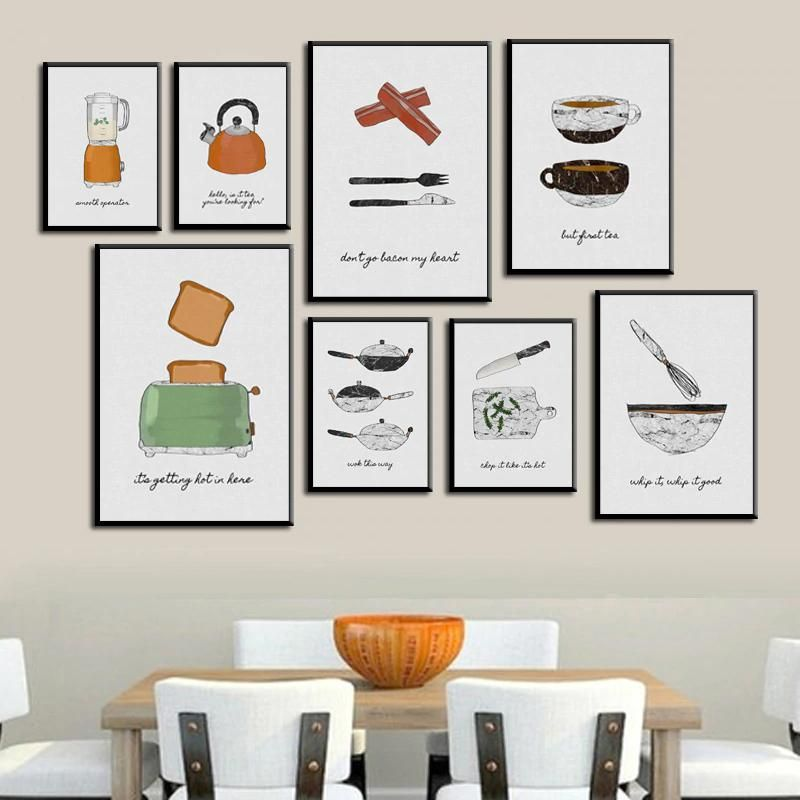 Modern Nordic Cafe Art Culinary Posters For Restaurant Or Kitchen