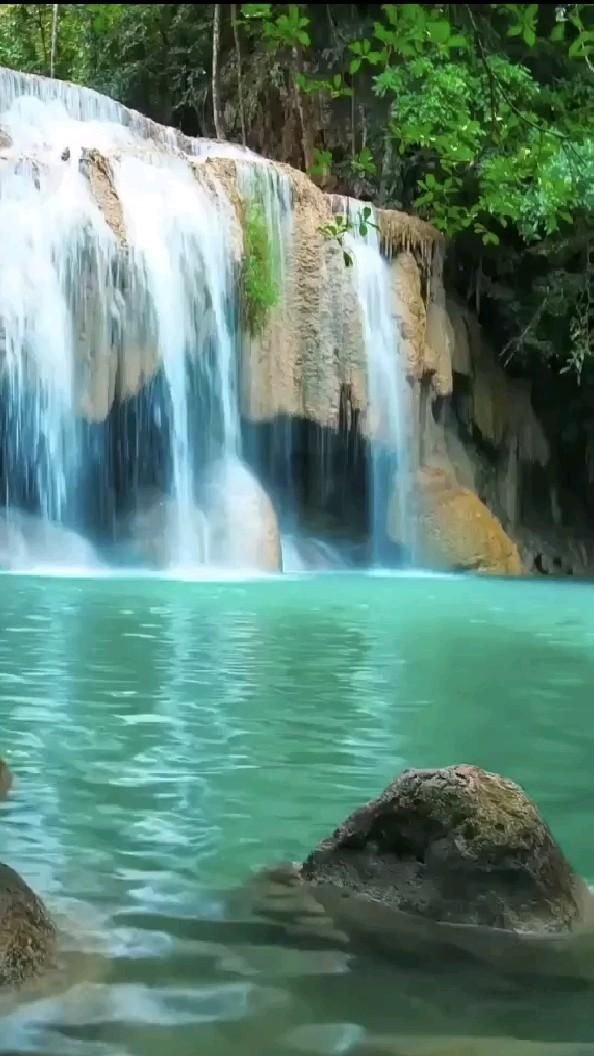 The Very Beautiful and Natural Waterfall