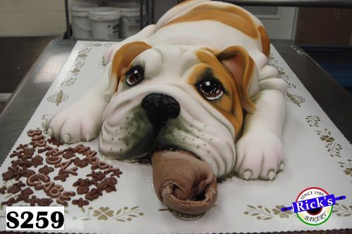 S259 The Bulldog Cake Waaaay Cute Bulldog Cake Dog Cakes
