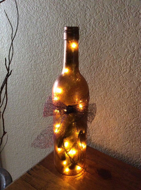 Wine Bottle Light Wine Bottle Lamp Bronze