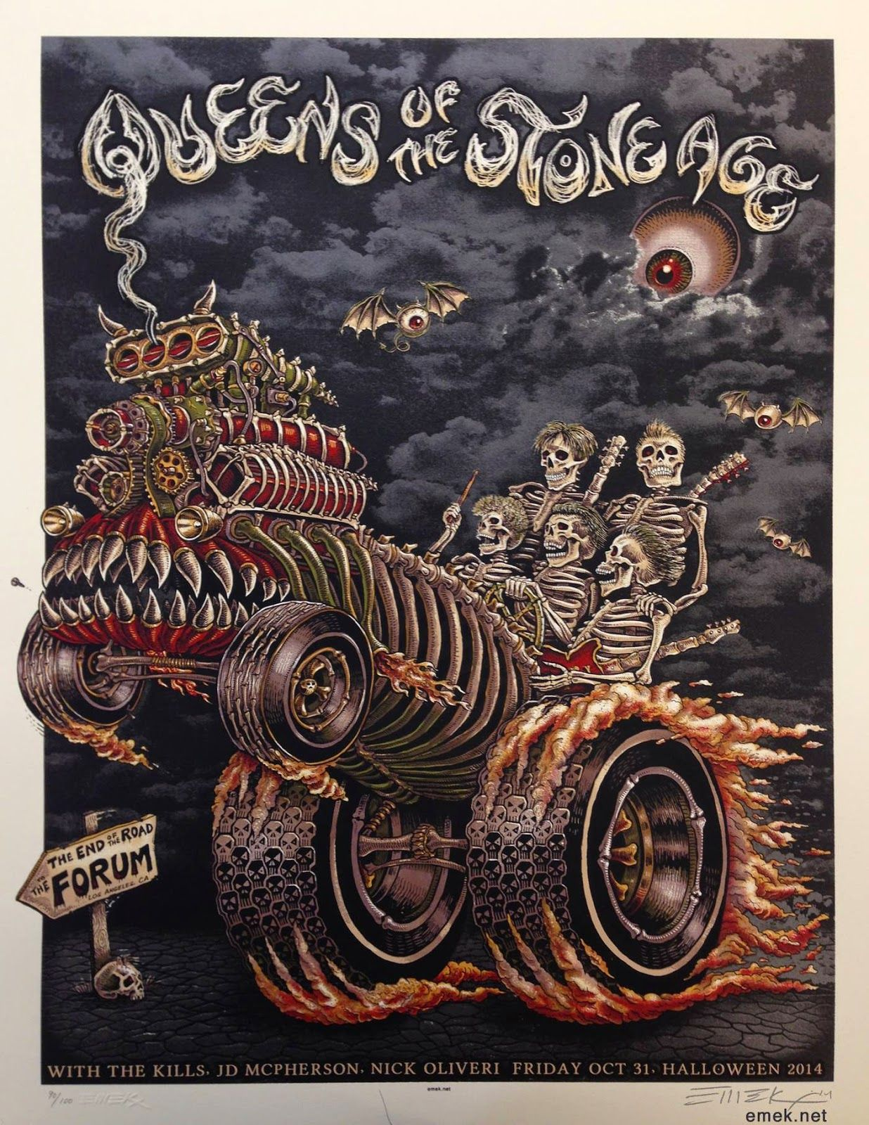Queens of the Stone Age Poster (Los Angeles, CA) by Emek (via Inside ...