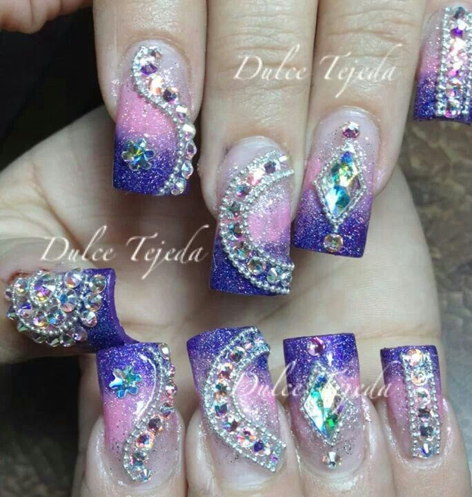 Otro hermoso diseño de Dulce Tejeda. Estilo Sinaloa. | Nails With ...