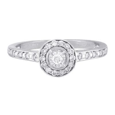1/5 ct. tw. Diamond Promise Ring in Sterling Silver available at #HelzbergDiamonds