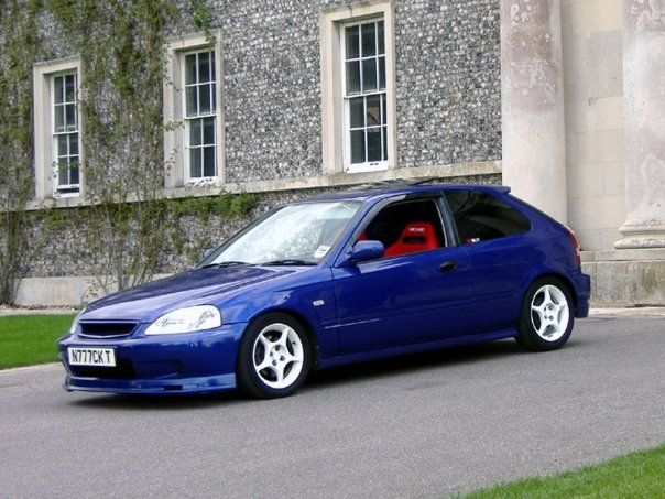 1999 honda civic ek3 in supersonic blue b90p with white. Black Bedroom Furniture Sets. Home Design Ideas
