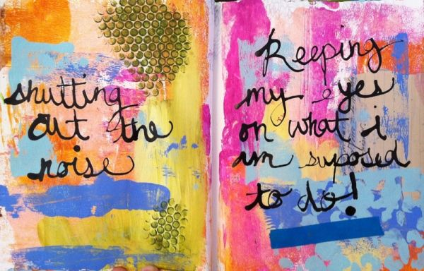 Like this style of art journaling from 'A girl and her brush'