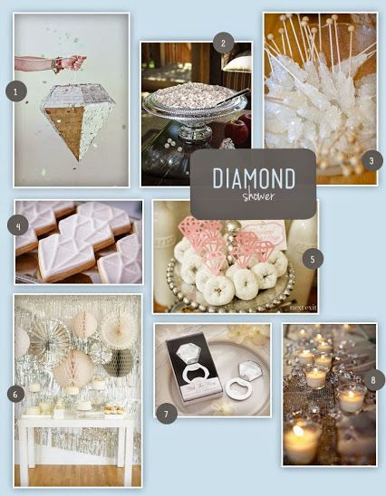 Wedding Shower Inspiration A Diamond Themed Wedding Shower Bday