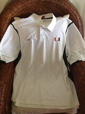 Nike University Of Miami U M Hurricanes White Polo Shirt Sz 2xl Men 39 S White Polo Shirt Men Mens Soccer