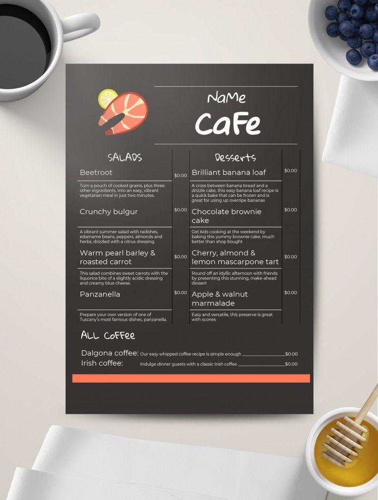 Free Fish Restaurant Menu Template In Google Docs Thegoodoc Com Menu Restaurant Restaurant Menu Template Menu Template