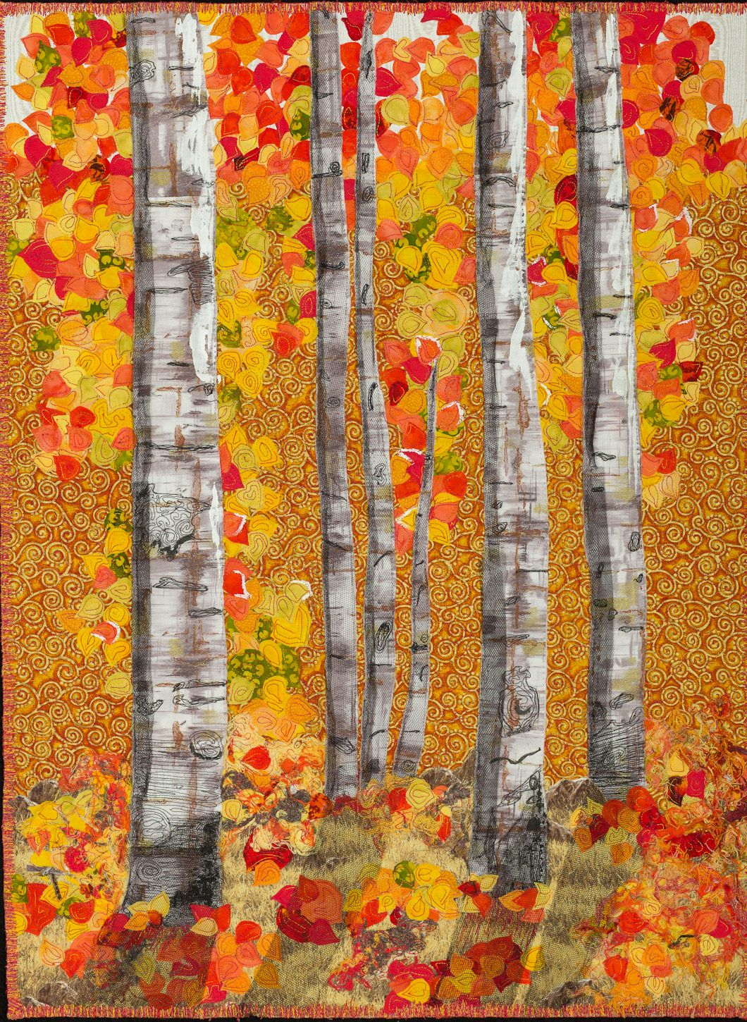 Aspen Trees In Autumn Splendor By Cindy Williams 2013
