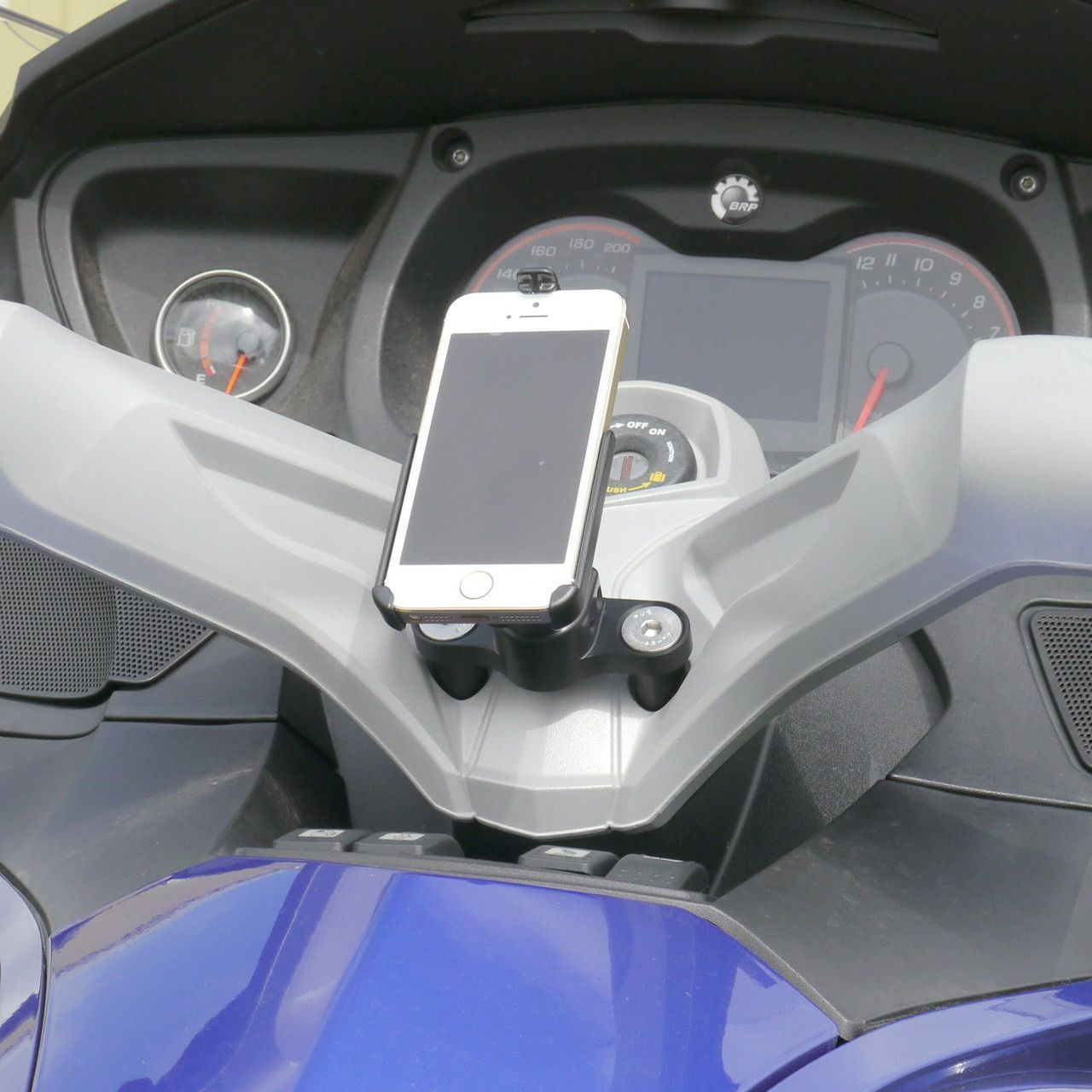 Ecaddy diamond motorcycle iphone mount for can am spyder center handlebar the