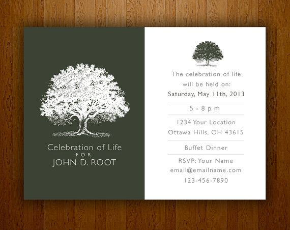 17 Best images about Memorial Celebration of Life ideas on – Memorial Service Invitation Cards