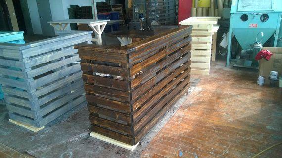 Rustic Pallet Bar Unit, Pallet Reception Desk, Pallet ...