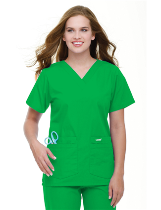 d9be91f8913 8219 Women's V-Neck Tunic #Landau #Scrubs #Holiday #StPatricksDay #Green # Uniforms #Lucky