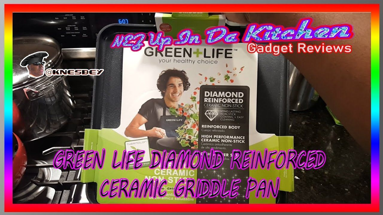 NUIDK GREEN LIFE DIAMOND REINFORCED CERAMIC GRIDDLE PAN