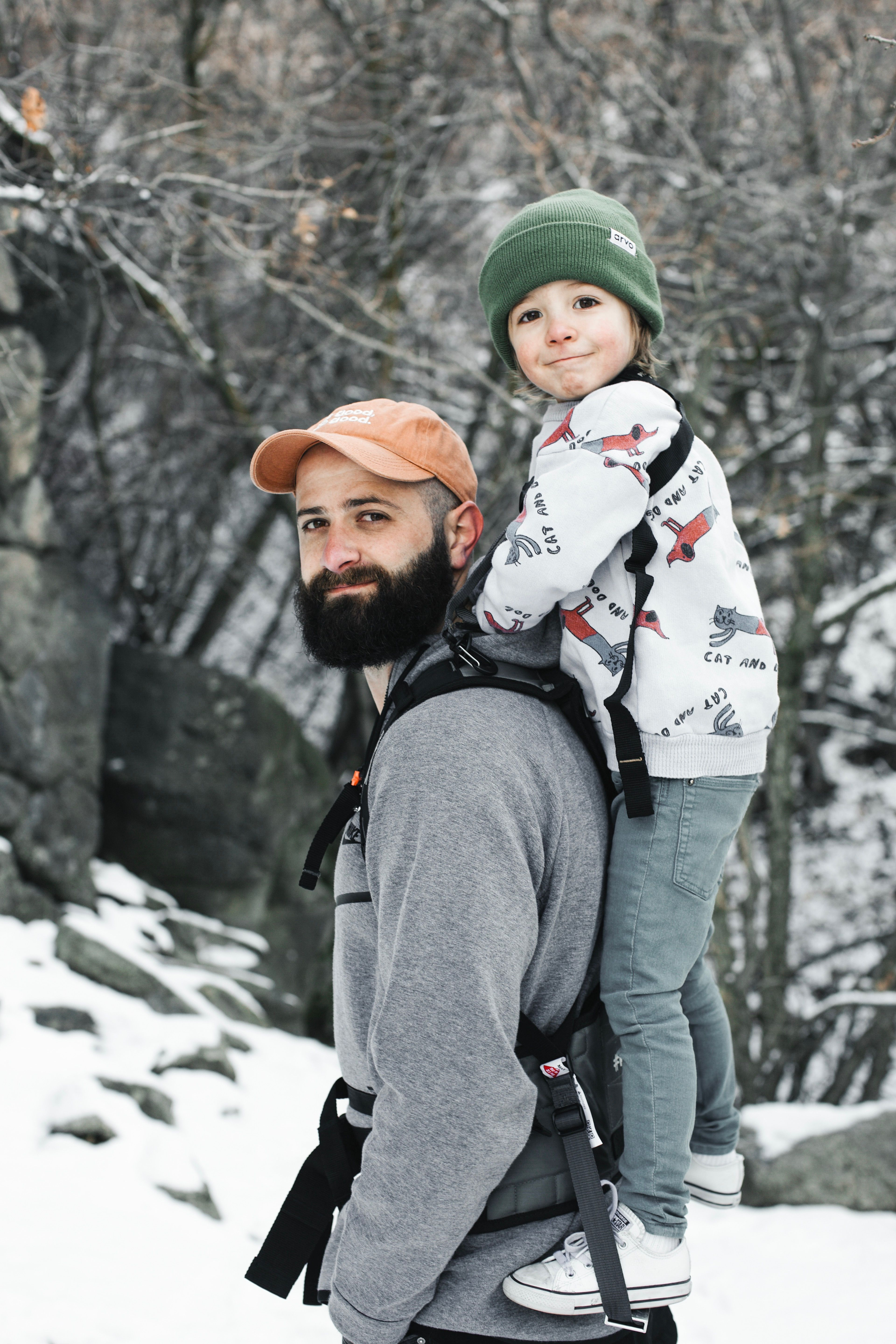 62d38c1a24d Hiking in the winter with your toddler just got easy with the Piggyback  Rider