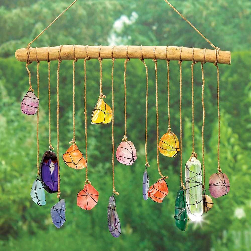 Photo of Hanging stones decor – tinker with children – #crafts #decor #gardenbe …