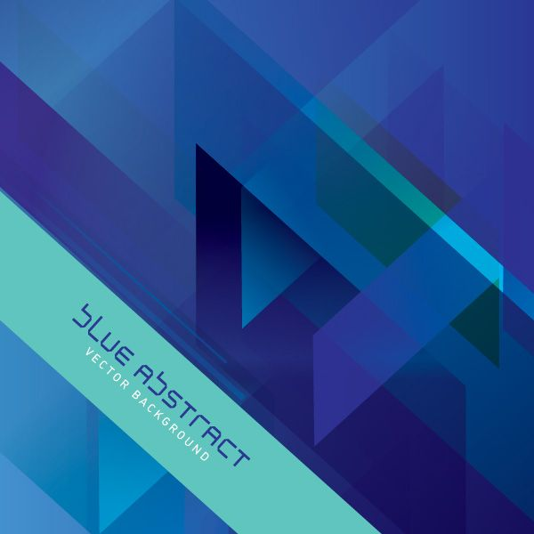 Blue Abstract Vector - Vector Graphic by DryIcons