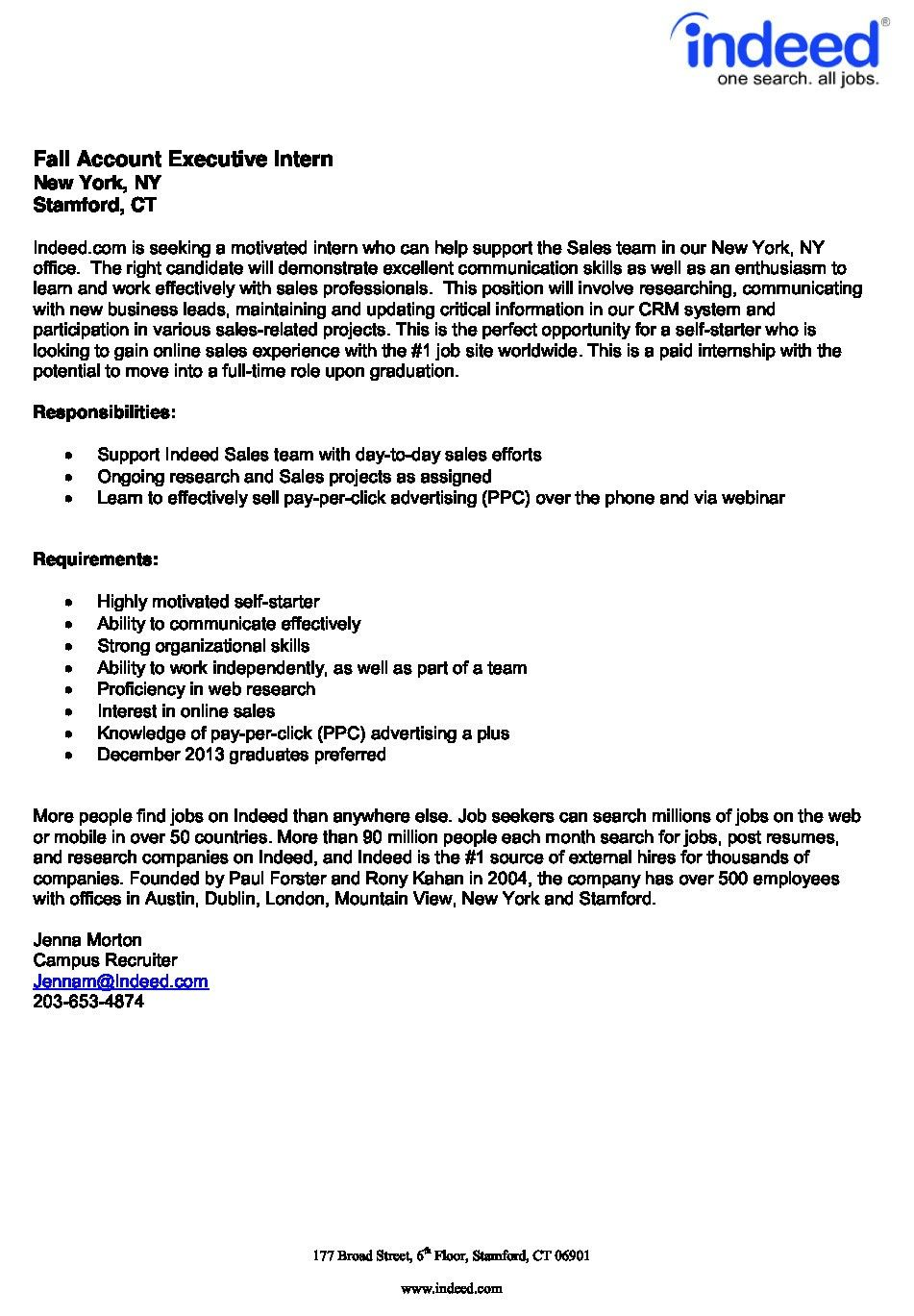 Resume Examples Indeed Resume Templates Resume Examples