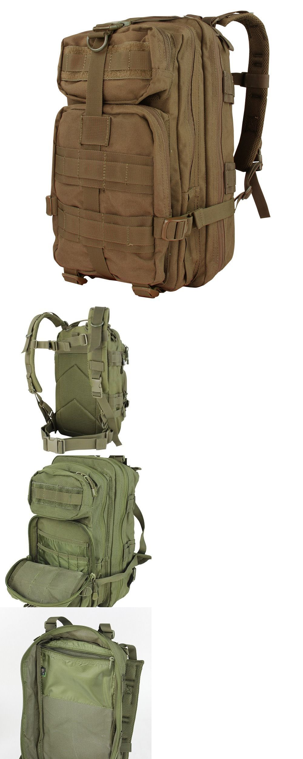 Day Packs 87122  Condor 126 Coyote Brown Compact Mission Assault Patrol Pack  Hiking Backpack - 6df2d14b0b