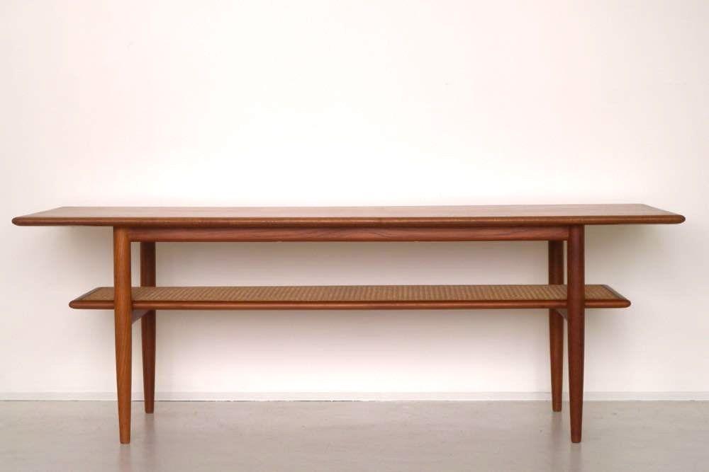 Teak two tiered Australian coffee table by Parker ...