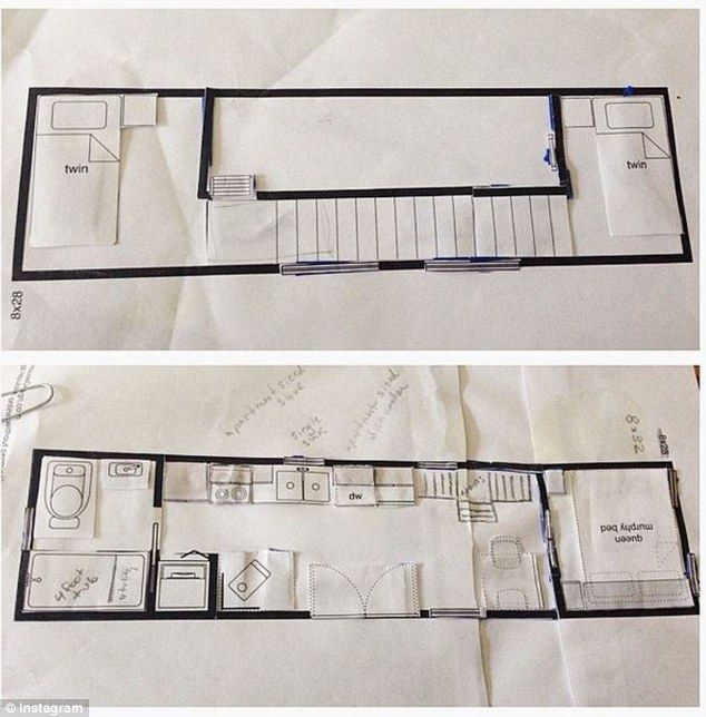3d floor plan 400 sq ft house. Great plan  2 children catwalk Full kitchen Couple with two will move into 400 square foot tiny house