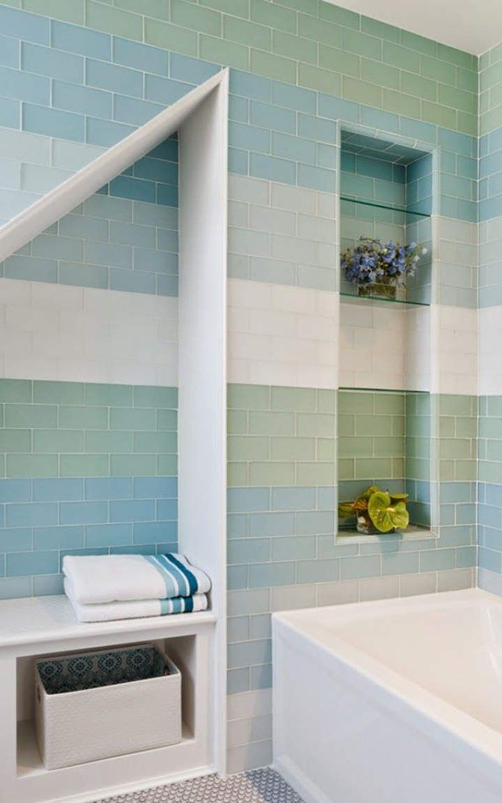 Small bathroom ideas #10 - The structural defects in the wall are ...
