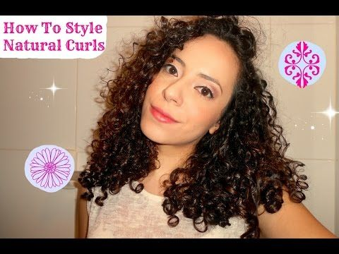 How To Style Natural Curly Hair Type 3a 3b Hair Youtube With