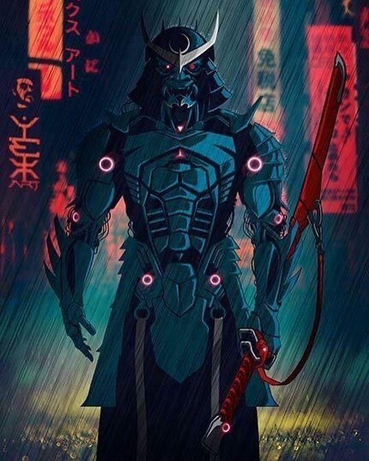 Arcanva Supreme On Instagram Cyber Samurai Imagine You Live In That Era How Cool Will It Be Artist Ye Samurai Art Ninja Art Concept Art Characters