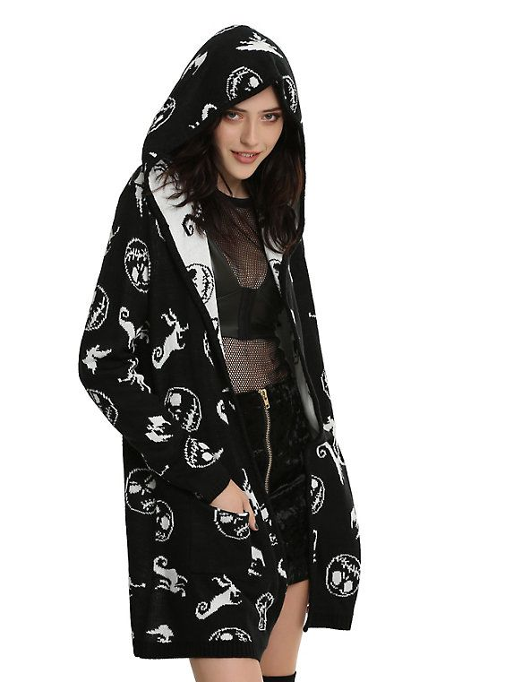 Hot Topic Nightmare Before Christmas Sweater.The Nightmare Before Christmas Jack Zero Hooded Girls