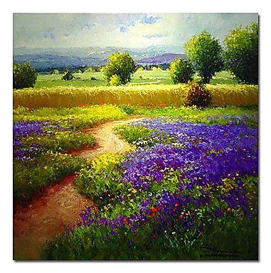"""Pintados à mão paisagem pintura a óleo 24 """"x 24"""" Square – BRL R$ 193,74"""