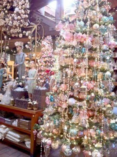 Christmas Crystal Garland Decoration Feather Tree Shabby Chic Shabby Chic Christmas Tree Shabby Christmas Pink Christmas