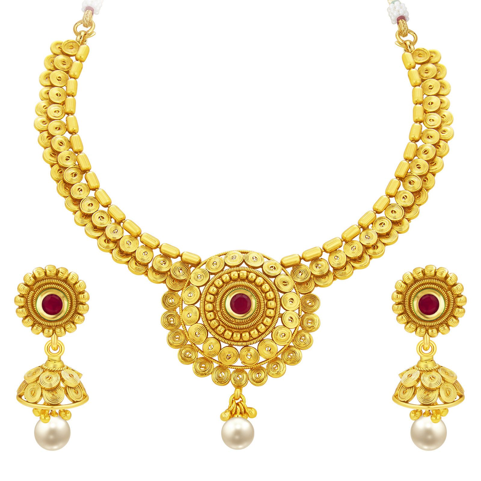 Jalebi Gold Plated Necklace Set For Women  sc 1 st  Pinterest & Jalebi Gold Plated Necklace Set For Women | Jewellery Sets ...