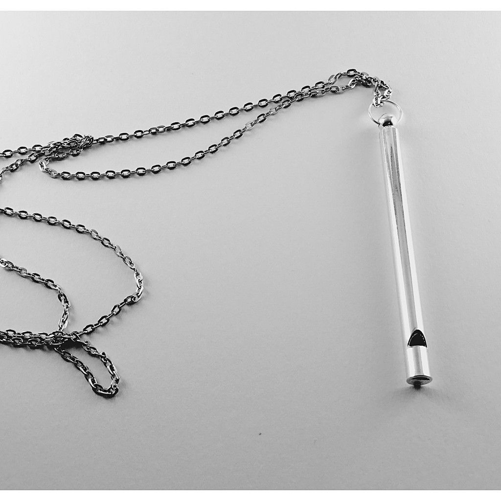 necklace cc crystal chanel pendant whistle