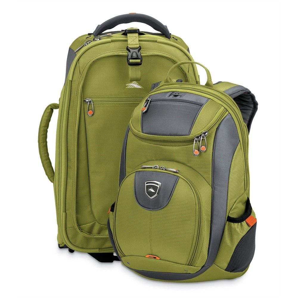 Lightweight, durable and versatile, High Sierra's ATQ Adventure Travel gear is perfect for all style of travel. Duffels double as backpacks, wheeled backpacks include built-in day packs, and several models include a protective laptop sleeve.