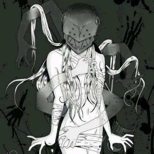 dark anime girl elfen lied mental patient pinterest