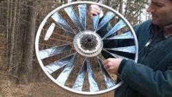 Ecoidea: cómo construir un aerogenerador con una rueda de bicicleta.