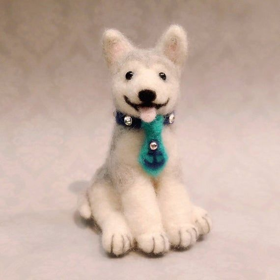 Needle Felted Husky, Felted Husky Puppy, Miniature Husky #miniaturehusky