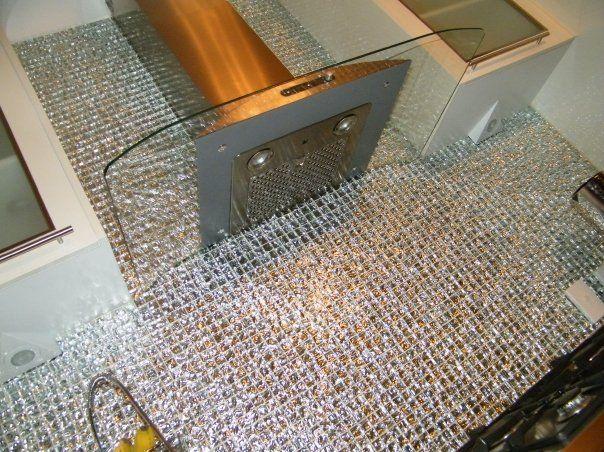 Glass Mosaic Tile Kitchen Splashback. | Ab fab home ideas ...