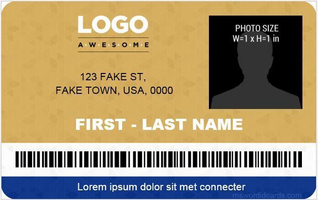 company id card templates
