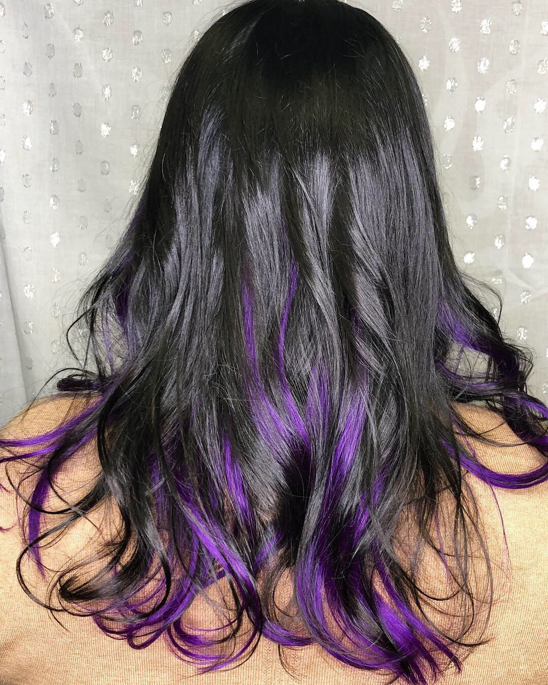 Damage Free Fun Hair Purple Hair Streaks Blue Ombre Hair Hair Color Spray