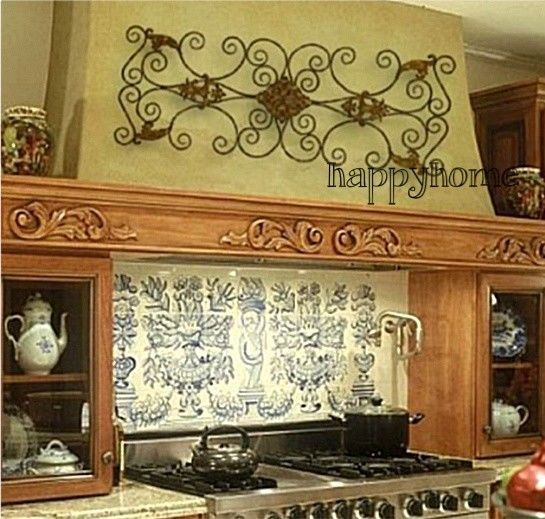 Large Metal Wall Art Hanging Iron Scroll Tuscan Overdoor ...